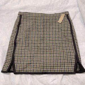 JCrew Tweed mini skirt NWT